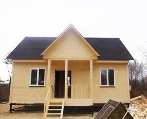 Одноэтажный каркасный дом 6х9 - внешний вид 1