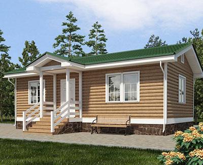 Каркасный дом 5,5х10 одноэтажный - внешний вид 1