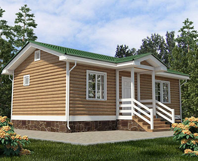 Каркасный дом 5,5х10 одноэтажный - внешний вид 2