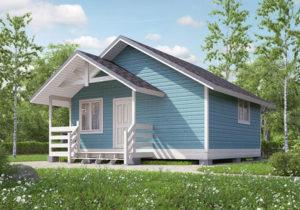 Каркасный дом 5х6 одноэтажный - внешний вид 1