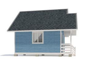 Каркасный дом 5х6 одноэтажный - внешний вид 2