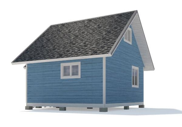 Каркасный дом 5х6 одноэтажный - внешний вид 3