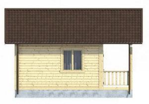 Каркасный дом 4.5х6 одноэтажный с террасой 1,5×6 - внешний вид 2