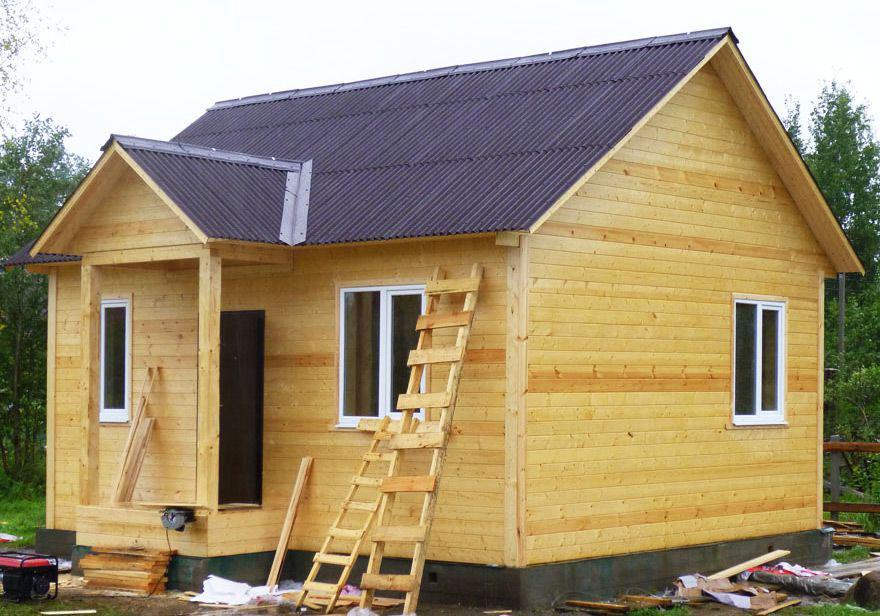 Каркасный дом 6х7 одноэтажный - внешний вид 1