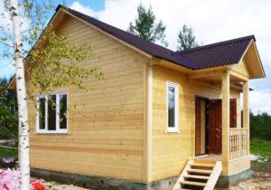 Каркасный дом 6х7 одноэтажный - внешний вид 2