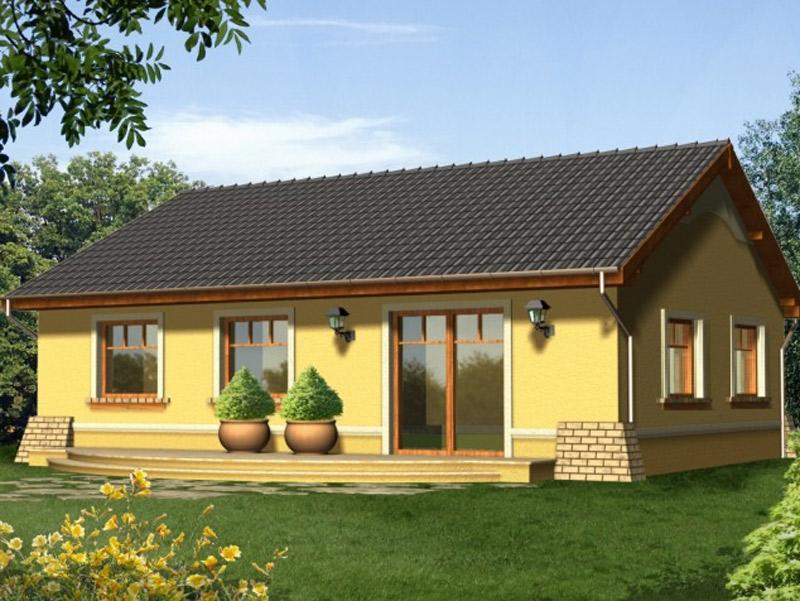 Каркасный дом 6х9 одноэтажный под ключ - внешний вид